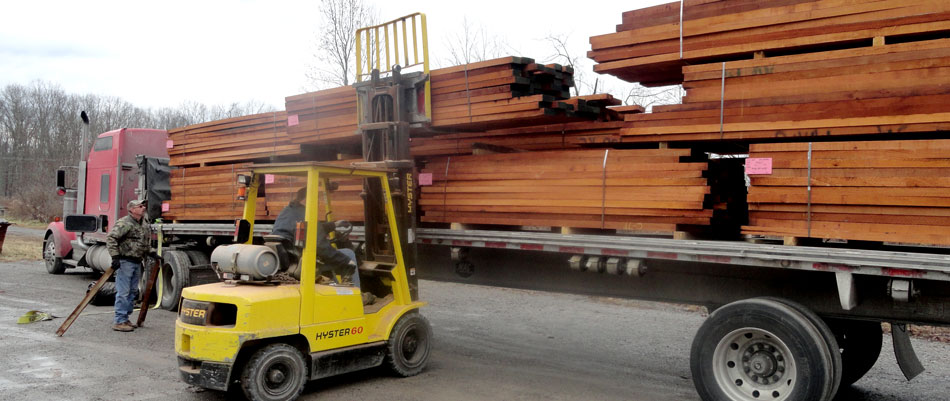 Genuine Mahogany truckload